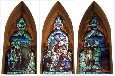 Stainglass windows at City URC
