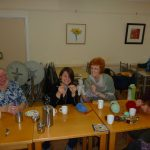 Knitting group in Cafe