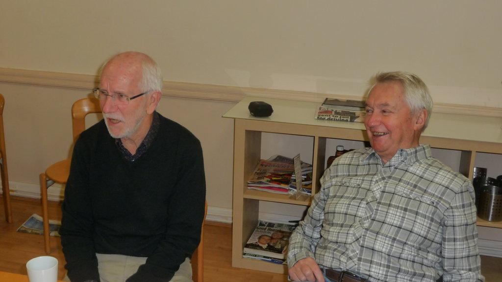Patrick and Ken laughing