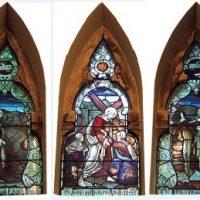 Stainglass windows at City URC