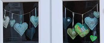 sewn hearts